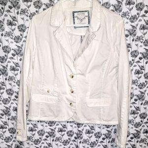 Sonoma- White/Cotton Lined 3-Button Blazer